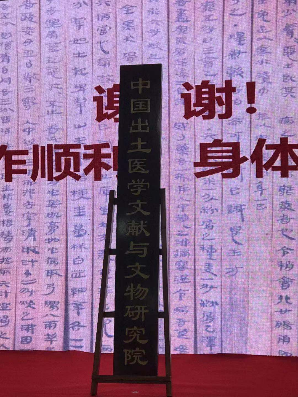 中国出土医学文献与文物研究院成立
